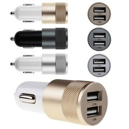Best Metal Dual USB Port Car Charger Universal 2 Amp for Apple iPhone iPad iPod Samsung Galaxy Motorola Droid Nokia Htc US05