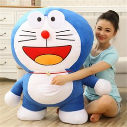 Wholesale Doraemon Stuffed Plush Toy cute Blue fatty tinker bell cat doll Anime Comics plush toys gifts for children