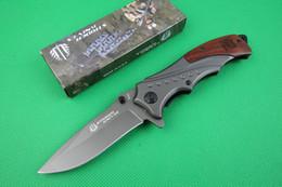 Drop shipping Strider Mick B46 Flipper folding knife 5Cr13 56HRC Titanium finish blade Steel&Rosewood Handle outdoor survival knives