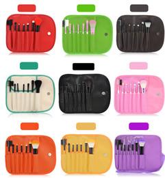 Wholesale Hot Selling Makeup Brush Set Tools Personal Blush Eyeshadow Make Up Brushes Multi Color Cosmetic Brush With PU Bag Kabuki Brush
