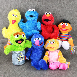 Wholesale 27 cm Sesame Street ELMO BIG BIRD COOKIE MONSTER Plush Soft Stuffed Doll Toy for kids gift retail