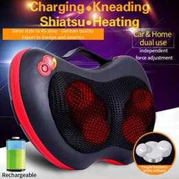 Wholesale JinKaiRui Deep Kneading Massage Electric Neck Back Relaxation Pillow Massage Devices Cushion Shiatsu Massager with Heat Car Home