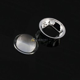 Wholesale Freeshipping MM LED Optical Glass Convex lens Projector Reflector degree mm Lens Holder for W LED Lamp Light