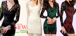 Korean women s dress à venda-Atacado-Novo tamanho grande mulheres coreanas outono e inverno Slim apertado pacote hip vestido sexy nightclub vestido de manga longa ou curta bottoming
