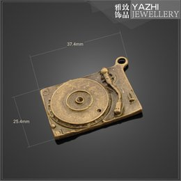 Wholesale CD player alloy charm pendant Antique bronze DIY jewelry accessory ZH4215 DIY jewelry Findings Components