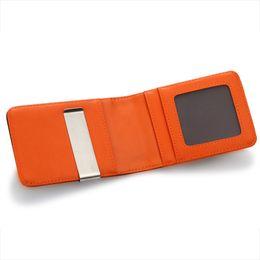 Wholesale Clip Wallet For Men - Leather Wallet for Men Money Clip Faux Slim Long Purse ID Credit Card Holder Cash Clip Male Wallet High Quality