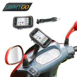 Wholesale Sostenedor del teléfono de la motocicleta Sostenedor impermeable del sostenedor del teléfono móvil del montaje del espejo de Rearview para el iphone S más para la nota de la galaxia