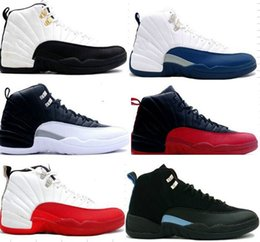 2016 Cheap High Quality air Retro 12 men Basketball Shoes Sports Shoes flint TAXI Flu game French Blue Game gamma blue Playoff sneaker Boots
