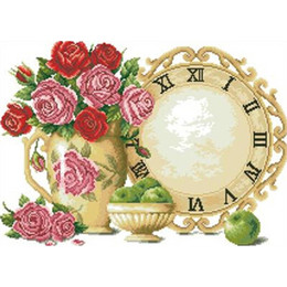 Wholesale 5D Diamond Painting Rose clock Cross Stitch Mosaic diamond Embroidery Kits rhinestones decoration gift x30cm LC