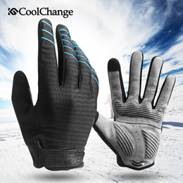Factory outlets Cycling Gloves Full Finger Sport Shockproof MTB Bike Touch Screen Gloves Man Woman Bicycle Sponge Long Finger Glove