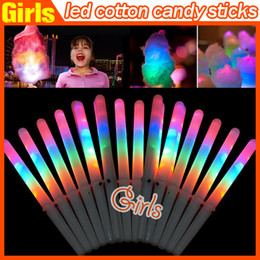 Wholesale 28 CM Colorful LED Light Stick Flash Glow Cotton Candy Stick For Vocal Concerts Night Parties