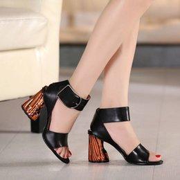 Wholesale New Sculpture style Ladies Acne Studios Obin Metal rough heel light sandals size on sale