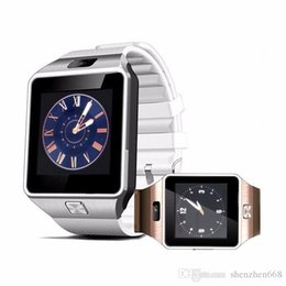 Wholesale Bluetooth Smart Watch DZ09 inch SIM Card Android Smartwatch Sport wristwatch for Samsung HTC Android Smart phones BS