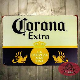 Wholesale TIN SIGN Corona Extra Beer Cerveza Metal Decor Art Bar Pub Shop Store