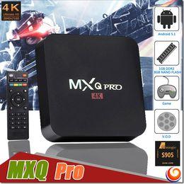 MXQ PRO Android TV Box Amlogic S905 Quad Core 1GB 8GB HDMI 2.0 4K H.265 Bluetooth Set Top TV Box