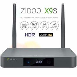 Wholesale ZIDOO X9S Android TV Box Realtek RTD1295 Quad Core G G HDMI OUT IN KODI Smart TV Russian Hebrew IPTV Europe Tv Box