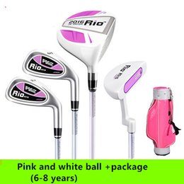 Wholesale Carbon A full set of golf clubs for children boys and girls beginner sets pole three children ages beginner formal standard club send thei