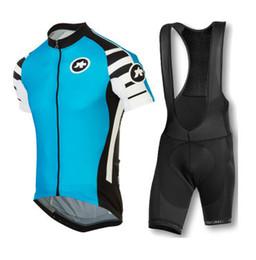 Wholesale Nouvelle arrivée Assos hommes cyclisme maillot de vêtements ensemble court manchon veste bib gel pad shorts kit été vélo sport