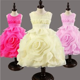 Wholesale Flower girl dresses Children dresses Kids wedding party dress baby girls dresses for size years