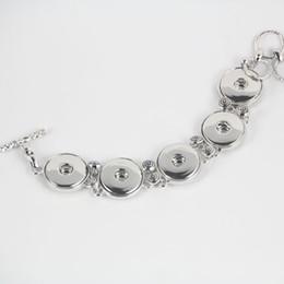 Wholesale Newest metal alloy Noosa chunks bracelet adjustable snap button bracelet ginger snap copper bracelets women jewelry New arrival