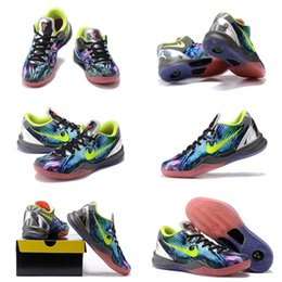 Wholesale With Shoes Box Kobe VIII System Prelude FTB Fade To Black Men Basketball Sport Shoes