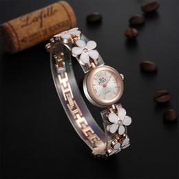 Fine New Style Ladies bracelet watches female models flowers ceramic bracelet watch women Girl Wrist Watch 2piece lot