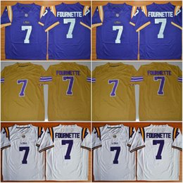 Wholesale Legend Patrick Peterson Tryann Mathieu Odell Beckham Jr Leonard Fournette New LSU Tigers College Football Stitched Jerseys