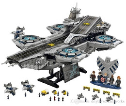 Wholesale DHL LEPIN Superheroe the Shield Helicarrier Aircraft Carrier Building Block Kits Minifigure Compatible Legoeo