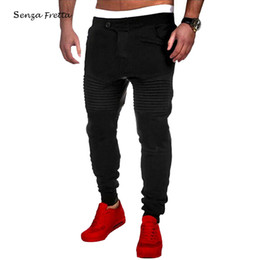Wholesale Senza Fretta Mens Jogger Dance Sportwear Baggy Harem Pants Slacks Trousers Sweatpants MC073