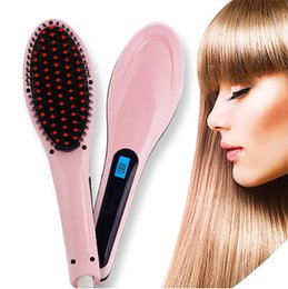 2016 New Hair Brush Auto Fast Hair Straightener Comb Irons With LCD Display Electric Straight Hair Comb Straightening
