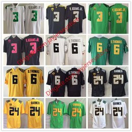 Wholesale Oregon Ducks Jersey Football Ncaa College Vernon Adams Jr Darron Thomas Kenjon Barner White Green Yellow Black