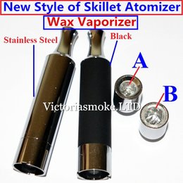Skillet Wax Vaporizer metal drip tip straight tube Quartz Coil Head with Quartz Bowl Inclined Mouth for evod ego ctwist ego batteries ecigs