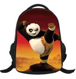 Enfants de bande dessinée étudiants sacs en Ligne-Motif Kung Fu Panda gros Cartoon Sac à dos Student enfants Pupil Kid école fille de garçon sacs en nylon Bookbag Sac KBB065