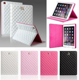Mélanger le cas de la mode à vendre-Mode Couronne en cuir PU Cover Tablet avec Smart Wake UP Sommeil et support pour iPad 2/3/4/5/6 ipad mini-1/2/3/4