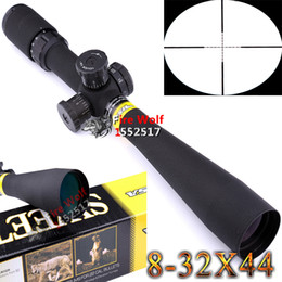 Wholesale Snipers Rifle Scope - 2016 NEW Hunting BSA 8-32x44 Mil-Dot Side Wheel Focus Sniper Rifle Scope + Free 30mm Rail Mounts Free Shipping New
