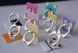 Universal Phone Holder Creative Stick Design Phone Ring Holder 360 Swivel Meatl Ring Holder Animal Pattern Phone Mount Holders