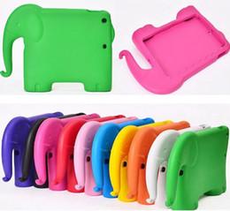 Mélanger le cas de la mode à vendre-Le style mignon de l'éléphant mousse le coffre-fort épais EVA choc la caisse de couverture de support d'épreuve pour l'ipad d'Apple iPad 2/3/4 ipad Mini