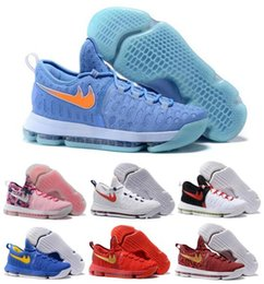 Wholesale Men Kevins Kd Basketball Shoes Sneakers Runing Kds VIIII Lowe Elites Blue Durant Quality Kd9 Sports Shoes