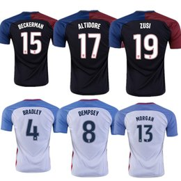 Wholesale A Quality États Unis Maillots USA Shirt DEMPSEY DONOVAN BRADLEY ALTIDORE America s Cup Accueil Away Grossistes rugby