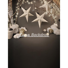 Wholesale 5X7ft x220cm Snowflake Christmas star Newborn Children Vinyl Photography Background photography studio backdrop Photo Props F2212