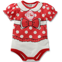 Wholesale Polka Dot Baby Girls Bodysuits Newborn Clothes Costumes Cartoon Overall Infant Body One-piece Cloth Toddler Jumpsuit
