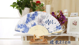 Wholesale dhl Manufacturers high grade silk fans in fine folding fan ancient advertising gift fan