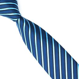 Blue Stripes Business party Slim Norrow Tie For Men 6cm Casual Arrow Skinny Silk Necktie Fashion Man Accessories E-040