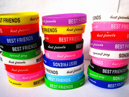 Brand New 50PCs Best Friends Friendship Kids Children's Silicone Rubber Band Wristbands Bracelets wholesale mixed lots