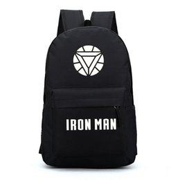 Iron man backpacks for teenage boys girls heros school bags backpacks cool for kids middle school