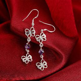 New arrival flower fashion 925 earrings STPE049,Best gift full gemstone women's sterling silver Dangle Chandelier earrings