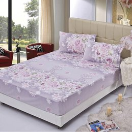 purple flowers twin full queen fitted sheet bed protection mattress protector cover mattress coverlid bedspread bed sheets home textiles in bulk