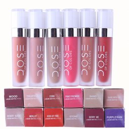 Wholesale Dose of Colors Matte Liquid Lipsticks Color with Retail Package Nutritious Matte Liquid Lipstick Dose of Colors