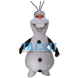 Adult New Frozen Olaf Mascot Costume Snowman Clothing Christmas Party Suit