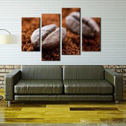 Wholesale First Wall Art Brown Coffee Bean Wall Art Painting The Picture Print On Canvas Food Pictures For Home Decor Decoration